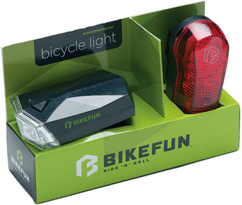 Far BIKEFUN SQUARE set F+S 4+3 LED