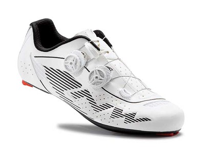 Pantofi NORTHWAVE ROAD EVOLUTION PLUS alb reflectorizant