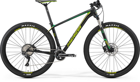 MERIDA 2017 BIG.NINE 4000 MAT UD CARBON/VERDE